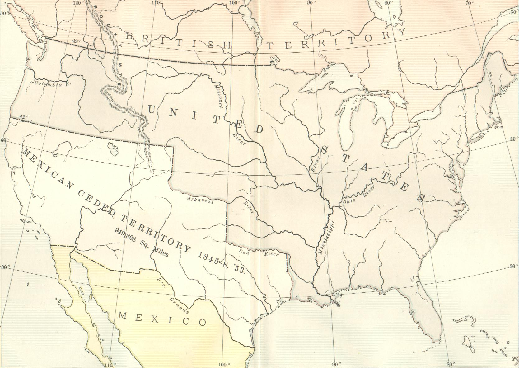 Maps Showing US Expansion - Map of the us in 1853